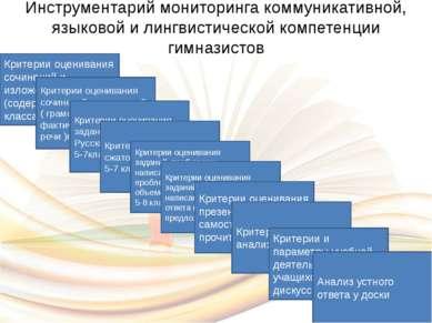 Инструментарий мониторинга коммуникативной, языковой и лингвистической компет...