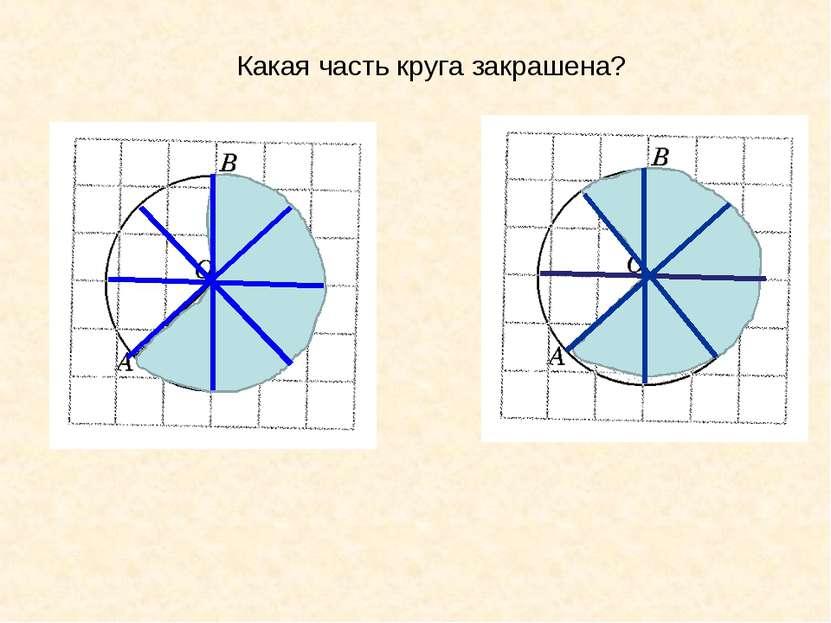 Какая часть круга закрашена?