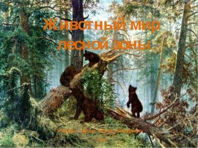 Животный мир лесной зоны Учитель – фунин сергей геннадьевич 2010