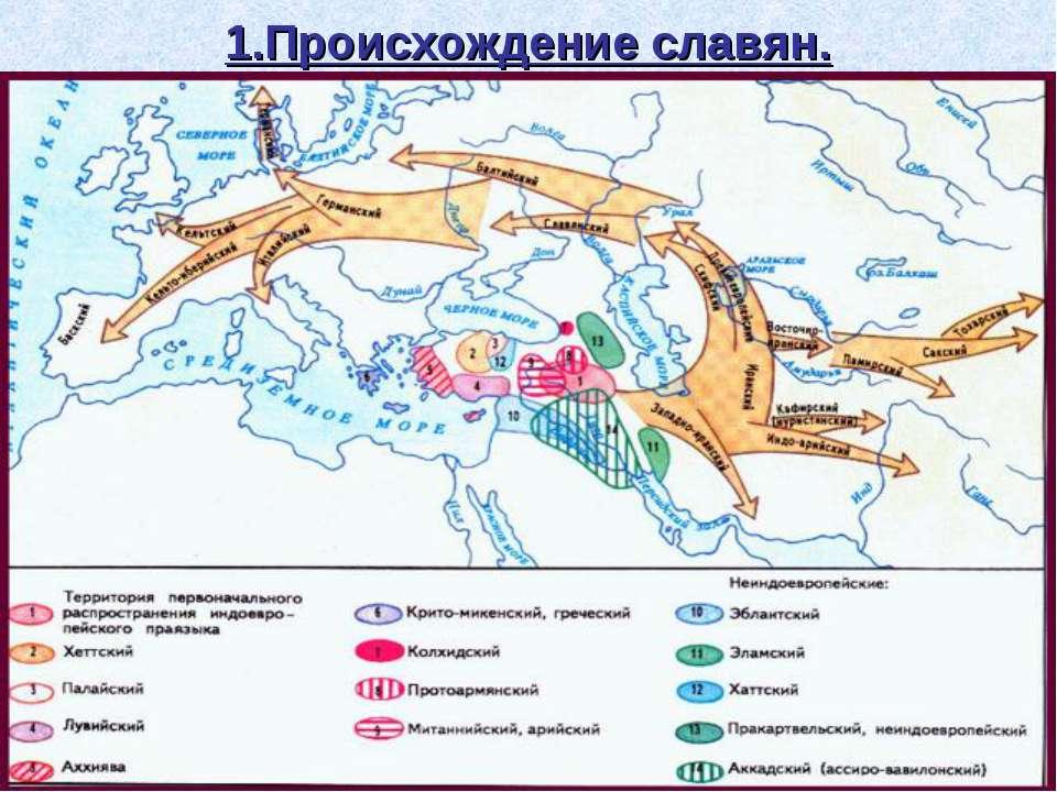 1.Происхождение славян.