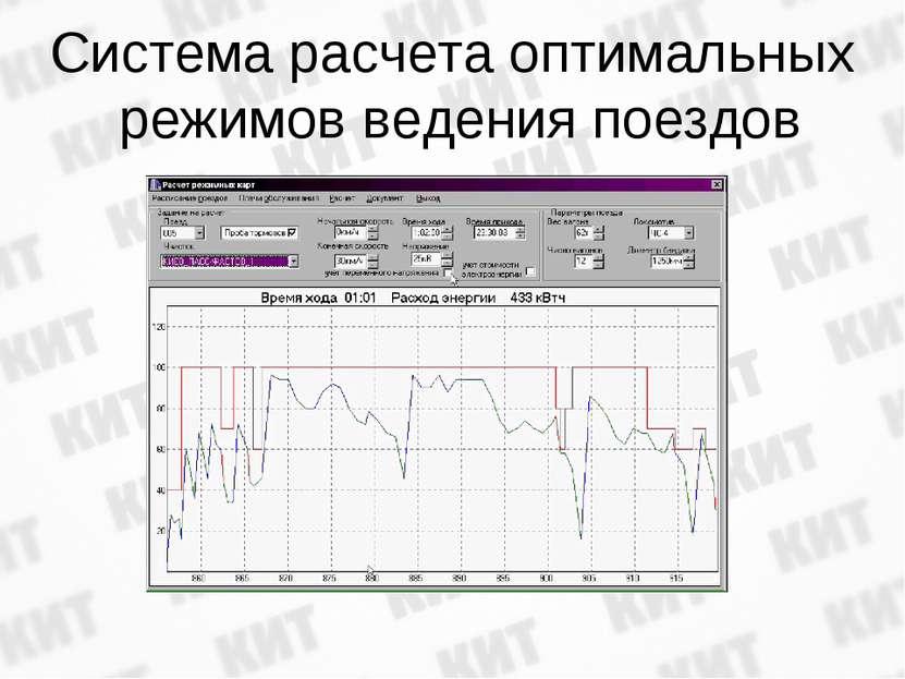 Система расчета оптимальных режимов ведения поездов