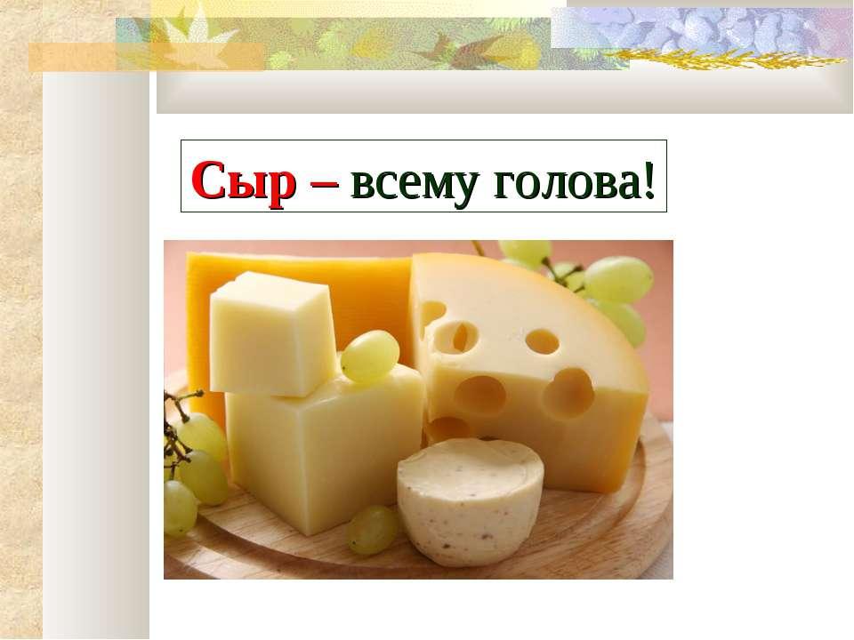 Сыр – всему голова!