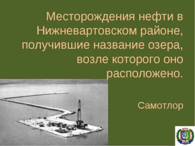 Месторождения нефти в Нижневартовском районе, получившие название озера, возл...