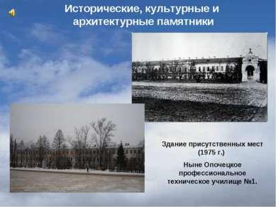 Здание присутственных мест (1975 г.) Ныне Опочецкое профессиональное техничес...