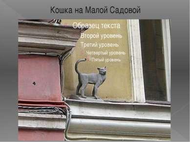 Кошка на Малой Садовой