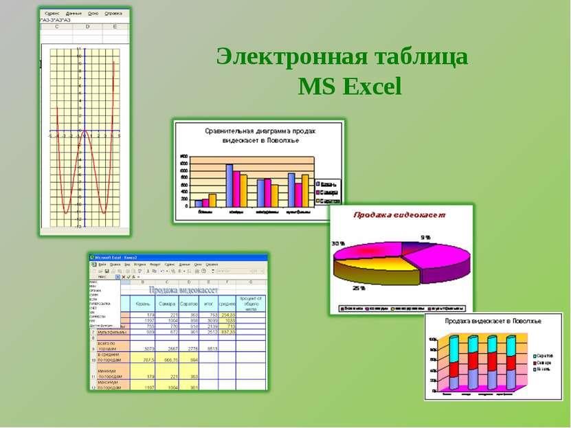 Электронная таблица MS Excel