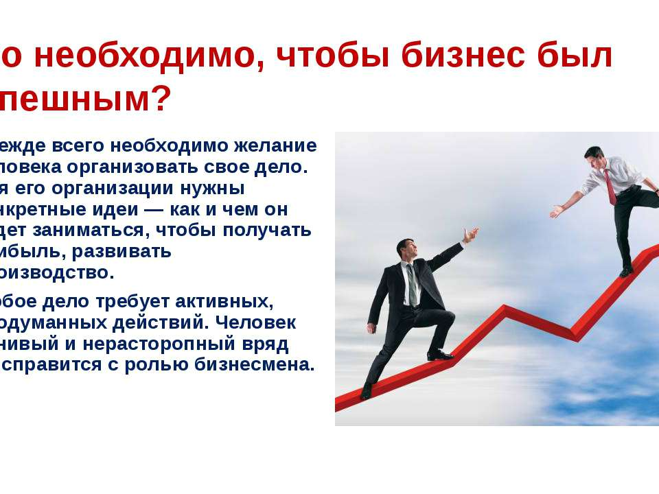 Что необходимо, чтобы бизнес был успешным? Прежде всего необходимо желание че...