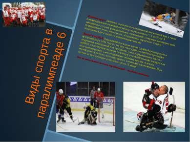 Виды спорта в паралимпеаде 6 Лыжный кросс. Лыжники состязаются в классической...