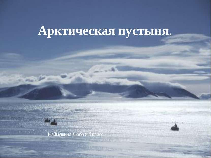 Арктическая пустыня. Арктическая пустыня. Арктическая пустыня. Наймушина Люба...