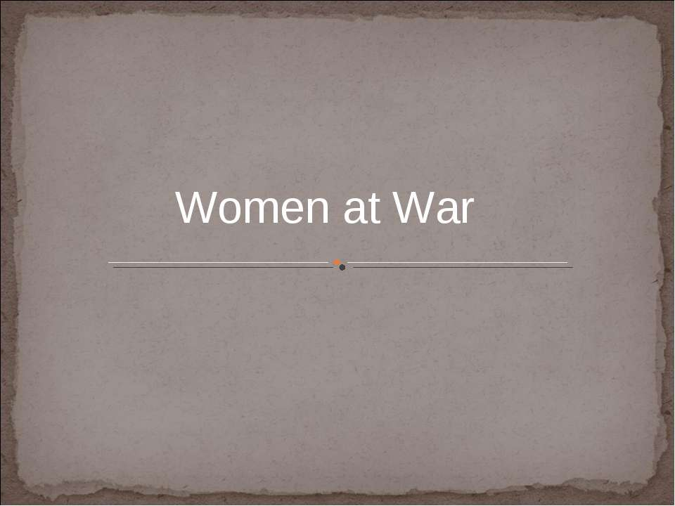 Women at War