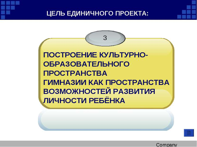 ЦЕЛЬ ЕДИНИЧНОГО ПРОЕКТА: ПОСТРОЕНИЕ КУЛЬТУРНО- ОБРАЗОВАТЕЛЬНОГО ПРОСТРАНСТВА ...