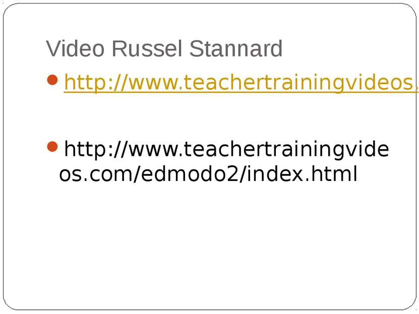 Video Russel Stannard http://www.teachertrainingvideos.com/edmodo1/index.html...
