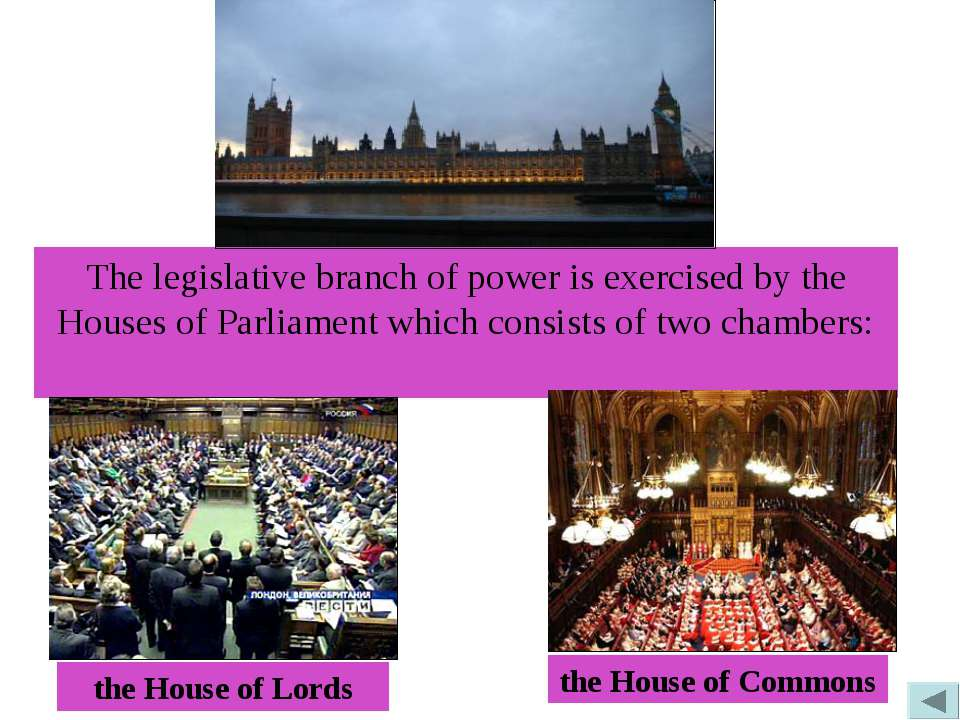 The legislative branch of power is exercised by the Houses of Parliament whic...