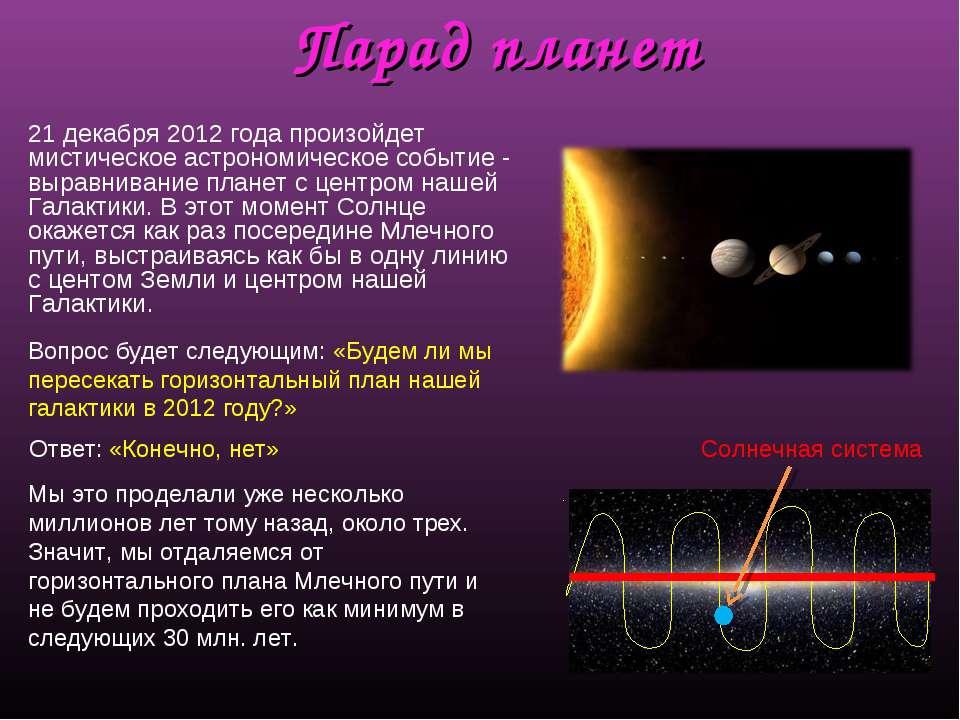 Парад планет 21 декабря 2012 года произойдет мистическое астрономическое собы...