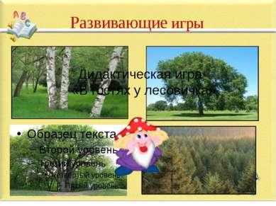 Дидактическая игра «В гостях у лесовичка» Развивающие игры