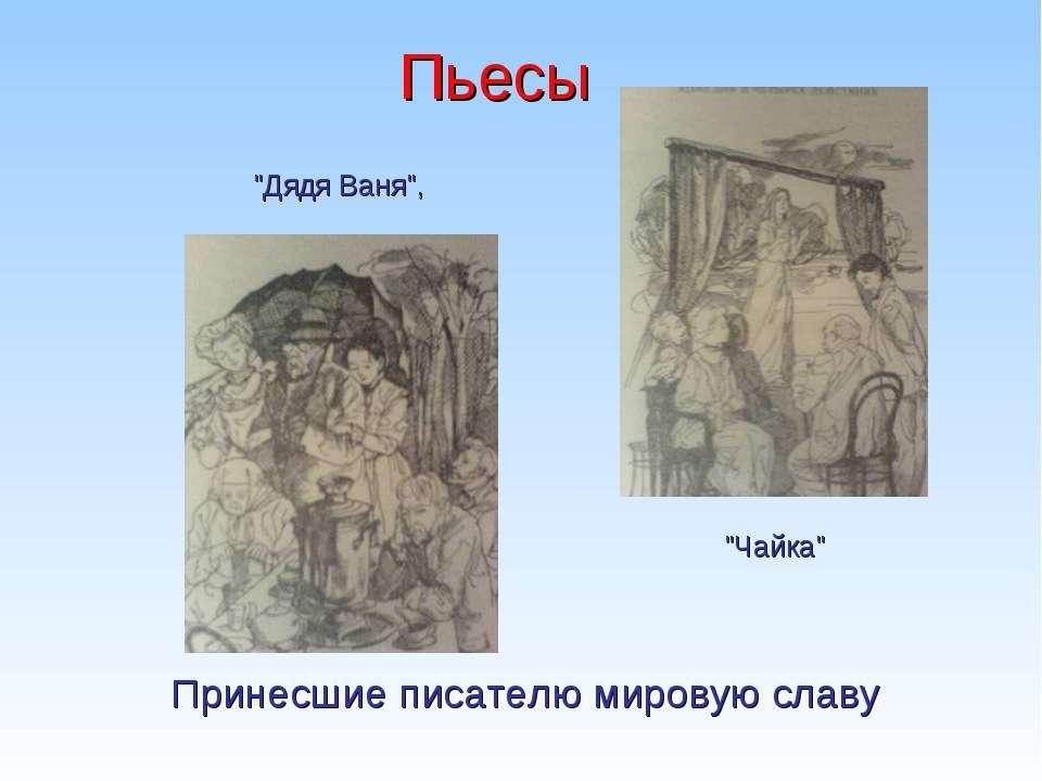"""Пьесы """"Чайка"""" """"Дядя Ваня"""", Принесшие писателю мировую славу"""