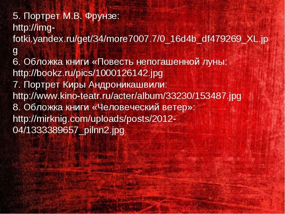 5. Портрет М.В. Фрунзе: http://img-fotki.yandex.ru/get/34/more7007.7/0_16d4b_...