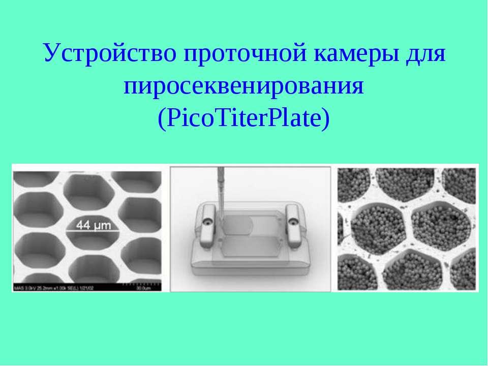 Устройство проточной камеры для пиросеквенирования (PicoTiterPlate)