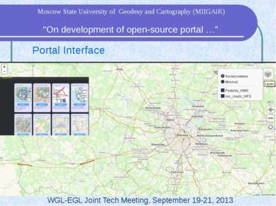 "Portal Interface WGL-EGL Joint Tech Meeting, September 19-21, 2013 ""On develo..."