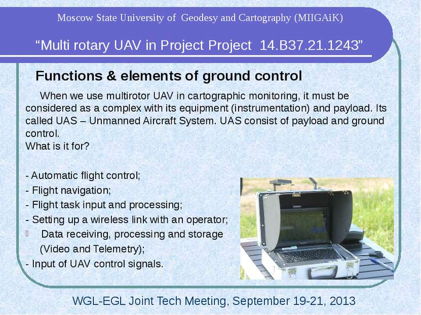 Functions & elements of ground control When we use multirotor UAV in cartogra...