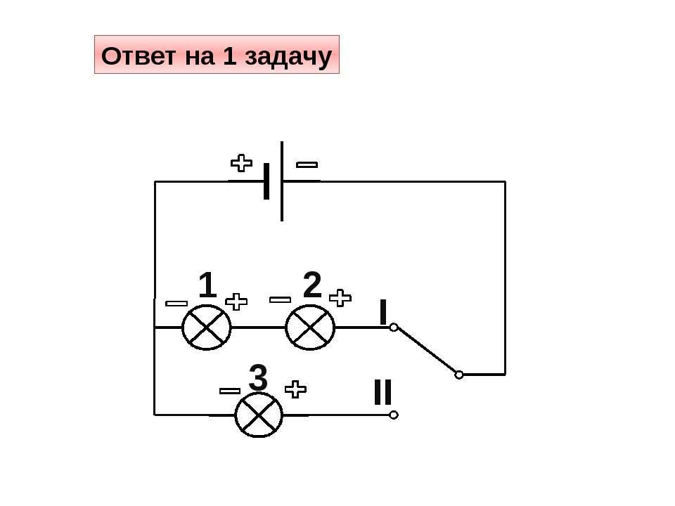 Ответ на 2 задачу II I