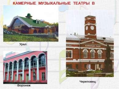 КАМЕРНЫЕ МУЗЫКАЛЬНЫЕ ТЕАТРЫ В РОССИИ. Воронеж Урал Череповец