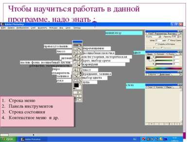 Чтобы научиться работать в данной программе, надо знать : МОУ Новоуспенская С...
