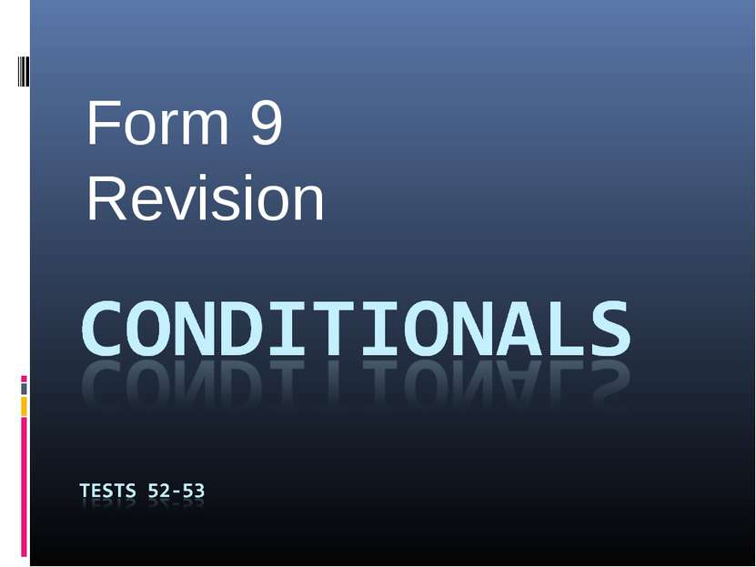 Form 9 Revision