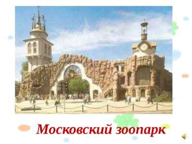 Московский зоопарк Слайд №1