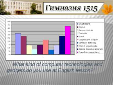 What kind of computer technologies and gadgets do you use at English lesson?""