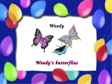 Possessive Case Wendy Wendy's butterflies