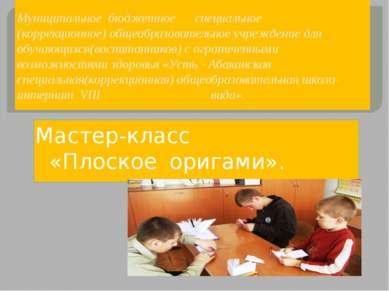 Муниципальное бюджетное специальное (коррекционное) общеобразовательное учреж...