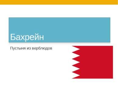 Бахрейн Пустыня из верблюдов