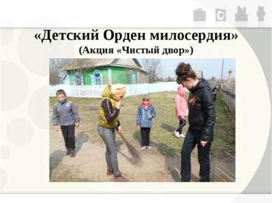 «Детский Орден милосердия» (Акция «Чистый двор»)