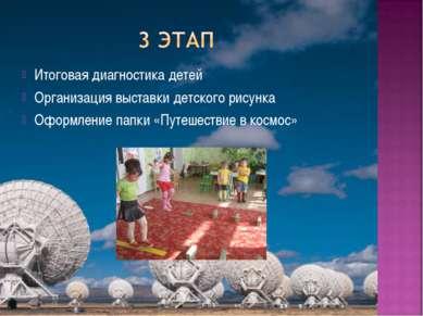 Итоговая диагностика детей Организация выставки детского рисунка Оформление п...