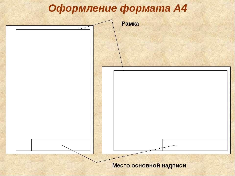 Оформление формата А4 Рамка Место основной надписи