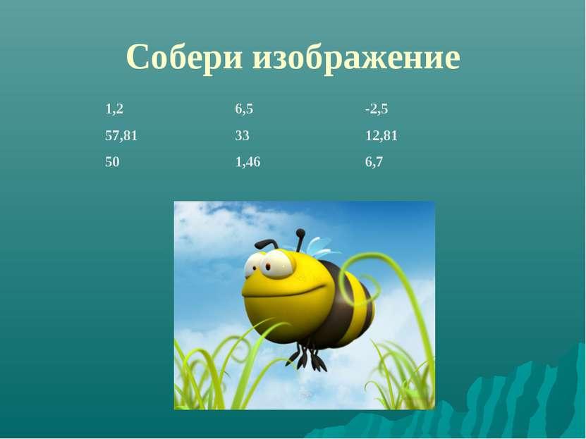 Собери изображение 1,2 6,5 -2,5 57,81 33 12,81 50 1,46 6,7