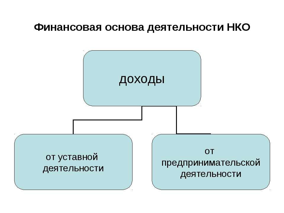 Финансовая основа деятельности НКО
