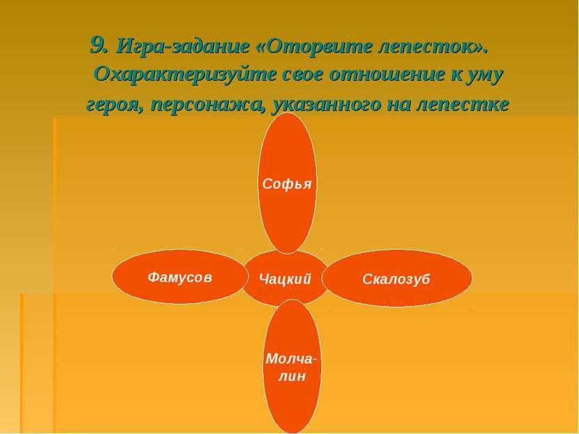 9. Игра-задание «Оторвите лепесток». Охарактеризуйте свое отношение к уму гер...