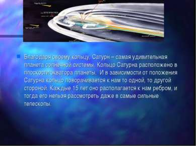 Благодаря своему кольцу, Сатурн – самая удивительная планета солнечной систем...