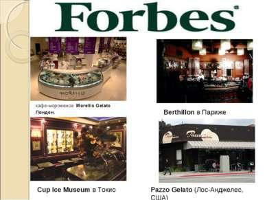 кафе-мороженое Morellis Gelato Лондон. Berthillon в Париже Cup Ice Museum в Т...