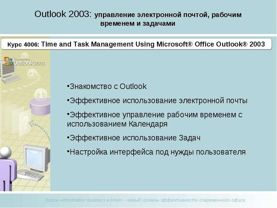 Outlook 2003: управление электронной почтой, рабочим временем и задачами Знак...