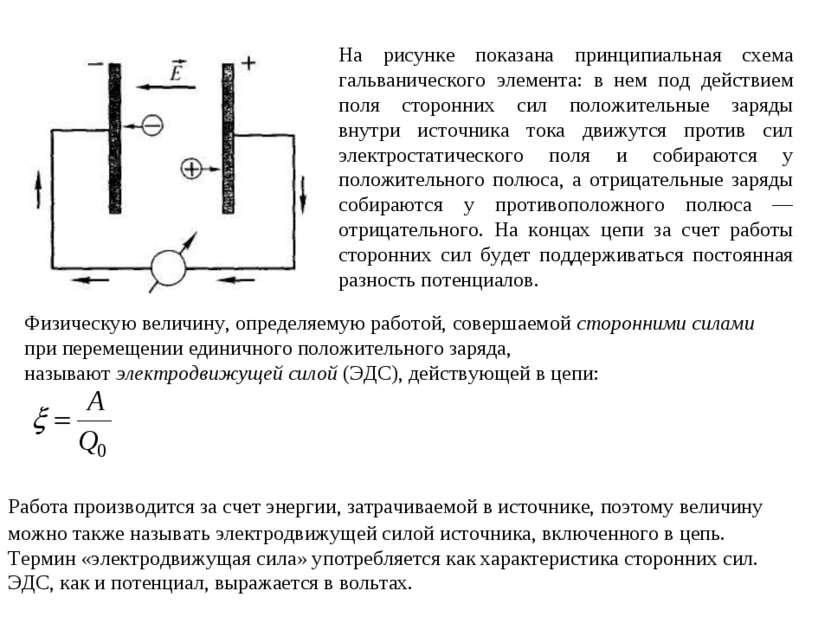 На рисунке показана принципиальная схема гальванического элемента: в нем под ...