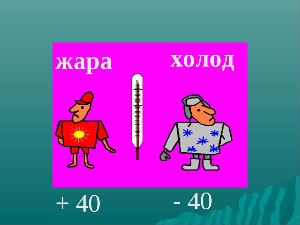 жара холод + 40 - 40