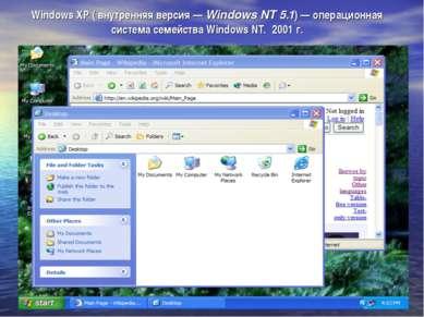 Windows XP ( внутренняя версия — Windows NT 5.1) — операционная система семей...