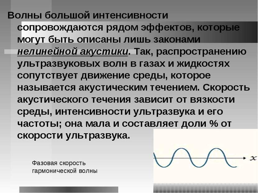 Волны большой интенсивности сопровождаются рядом эффектов, которые могут быть...