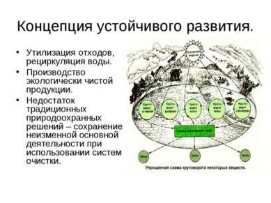 Концепция устойчивого развития. Утилизация отходов, рециркуляция воды. Произв...