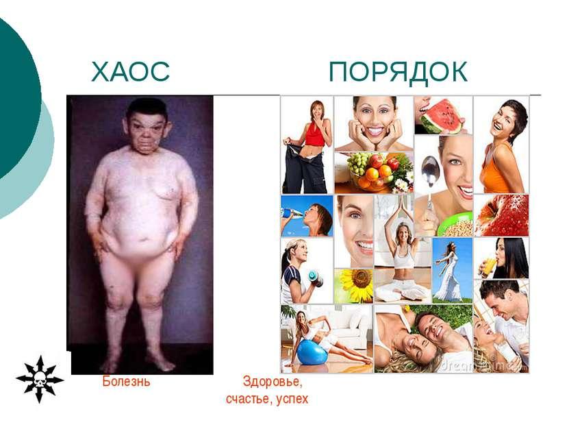 ХАОС ПОРЯДОК Болезнь Здоровье, счастье, успех