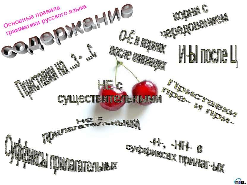 Основные правила грамматики русского языка