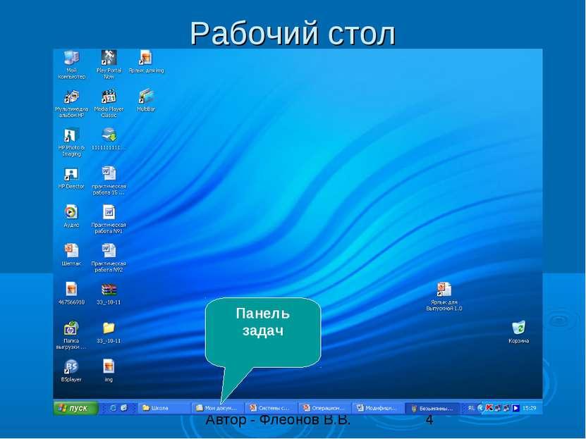 Рабочий стол Панель задач
